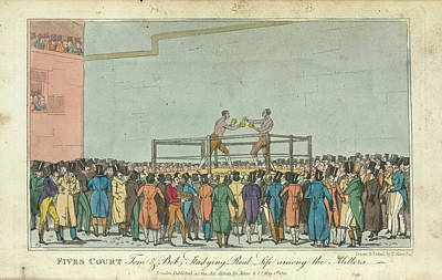 Boxing Print by British Library