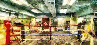 Boxing Ring Print by Magomed Magomedagaev