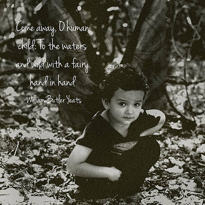 Photograph - Boy Fairy And Quote by Cherie Haines