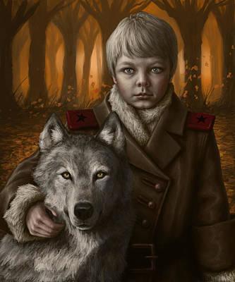 Wolf Digital Art - Boy by Mark Zelmer