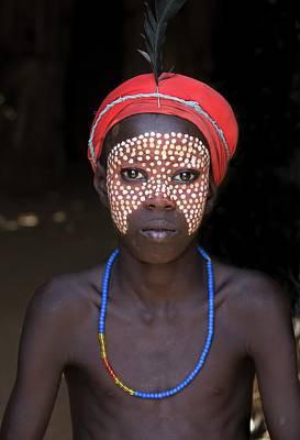 Primitives Photograph - Boy Of The Dassenech Tribe by Peter J. Raymond