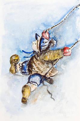 Boy On Swing Print by Irina Gromovaja