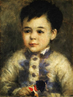 Toy Soldiers Painting - Boy With A Toy Soldier. Portrait Of Jean De La Pommeraye by Pierre-Auguste Renoir