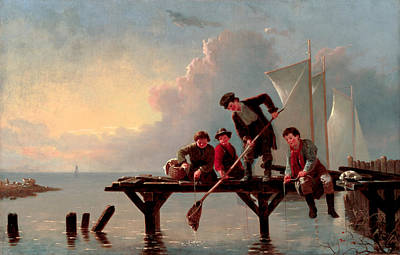 William Ranney Painting - Boys Crabbing by William Ranney