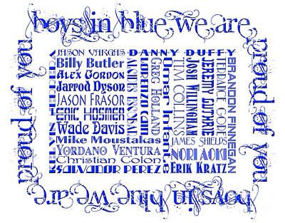 Baseball Digital Art - Boys In Blue We Are Proud Of You  by Andee Design