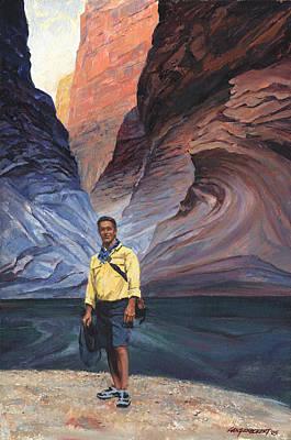 Canyon Painting - Brad At Supai Formation by Don  Langeneckert