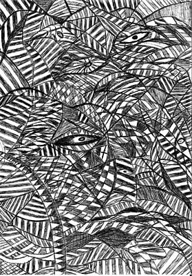 Abstract Movement Drawing - Brain Waves by Rowan Van Den Akker