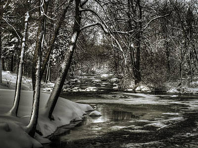 Winter Storm Photograph - Brainards Bridge After A Snow Storm 4 by Thomas Young