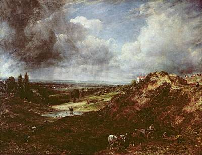 Horse And Cart Photograph - Branch Hill Pond, Hampstead Heath, 1828 Oil On Canvas by John Constable