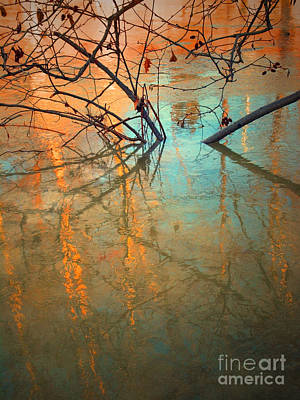 Branches And Ice Print by Tara Turner