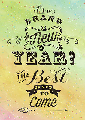 Brand New Year Print by Tammy Apple