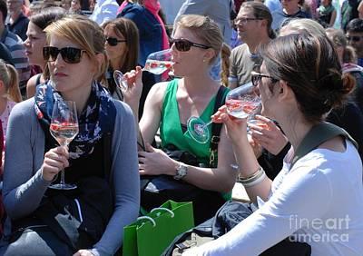 Women Tasting Wine Photograph - Brandenburg Wine Tasting by Andrea Simon