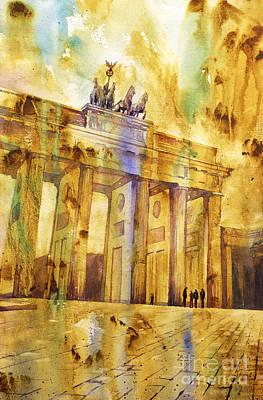 Berlin Germany Painting - Brandenburg Gate by Ryan Fox
