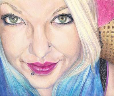 Eyelash Drawing - Brandi-marie by Shana Rowe Jackson