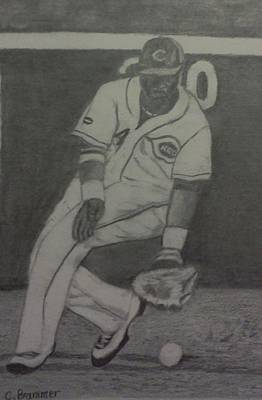 Brandon Phillips Print by Christy Saunders Church