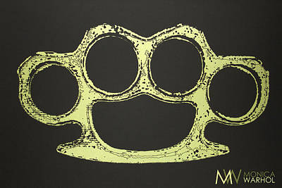 Brass Knuckles Print by Monica Warhol