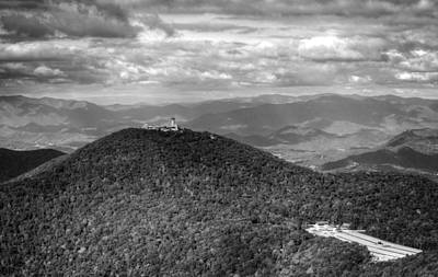 Brasstown Bald In Black And White Print by Chrystal Mimbs