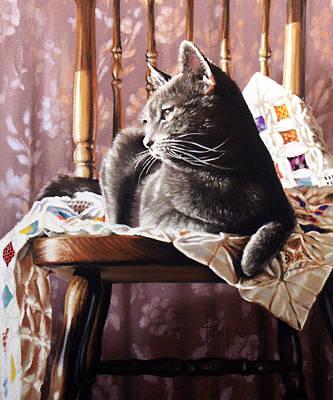 Brat Cat Print by Dianna Ponting