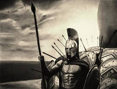 Brave Loyal Defender - Sepia Print by Vishvesh Tadsare
