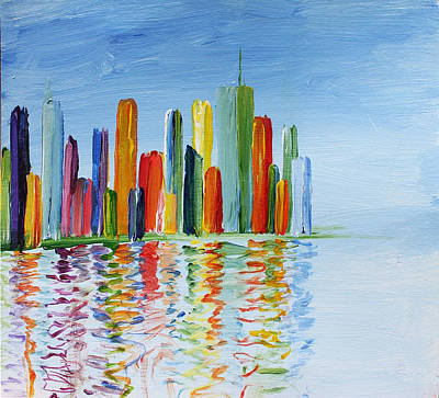 Abstact Bridges Painting - Brave New Babylon by Maxwell Hanson