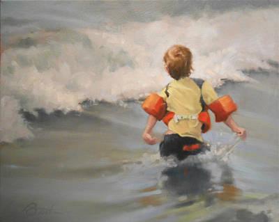 Brave Swimmer Original by Todd Baxter