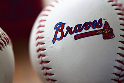 Sphere Photograph - Braves Baseball by Ricky Barnard