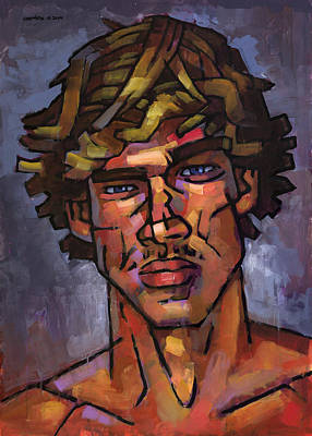 Expressionist Painting - Brazilian Surfer by Douglas Simonson