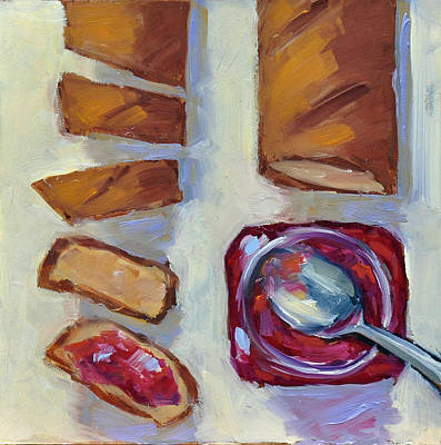 Painting - Bread And Jam by Mary Byrom