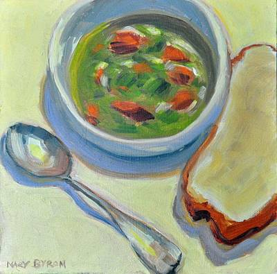 Painting - Bread And Soup by Mary Byrom