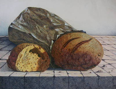 Bread Print by Lina Velez