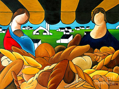 Life In Italy Painting - Bread by William Cain