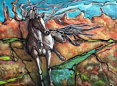 Kicked Painting - Break Free by Jonelle T McCoy