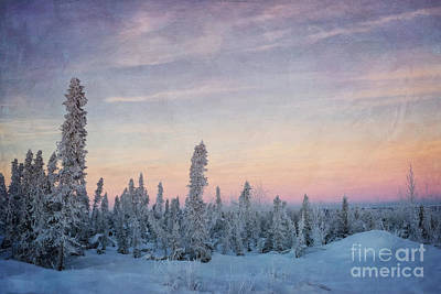 Snowscape Photograph - Break Of Dawn by Priska Wettstein