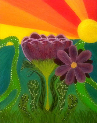 Florid Painting - Break Of Day by Rachel Donnelly