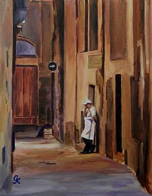 Painting - Break Time by George Kramer