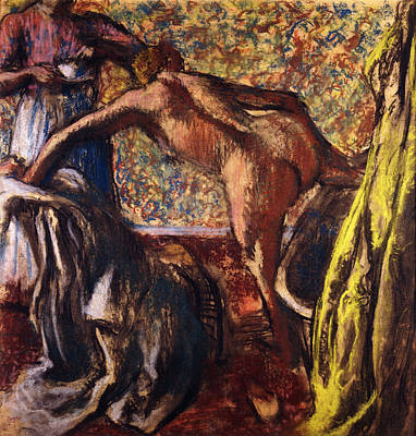 Clothes Clothing Painting - Breakfast After The Bath Le Petit Dejeuner Apres Le Bain by Edgar Degas