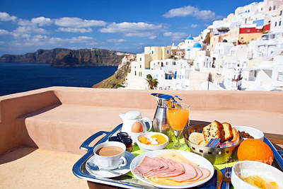 Vacances Photograph - Breakfast At Terrace by Aiolos Greek Collections