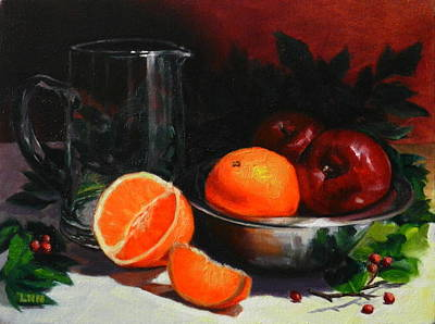 Water Pitcher Painting - Breakfast Fruits by Ningning Li