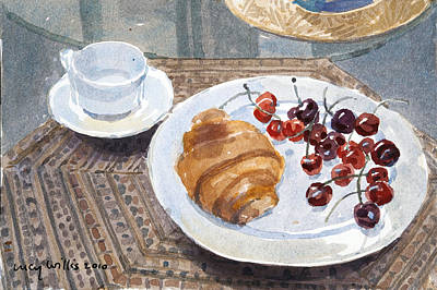 Meal Painting - Breakfast In Syria by Lucy Willis