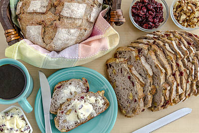 Breakfast With Bread Print by Teri Virbickis
