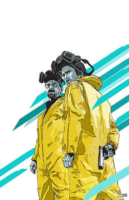 Culture Digital Art - Breaking Bad by Jeremy Scott