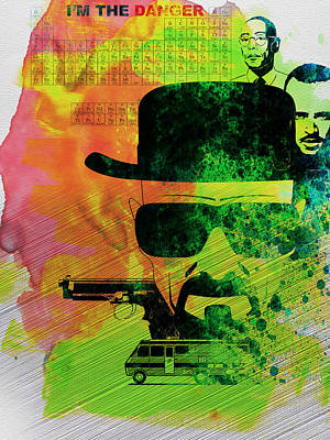 Breaking Bad Watercolor Print by Naxart Studio