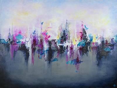 Fiber Art Painting - Breaking Boundaries by Jenny Bagwill