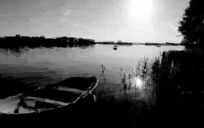 Fishing Painting - Breaking Dawn by VRL Art