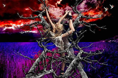 Tree Mixed Media - Breaking Free by Marvin Blaine