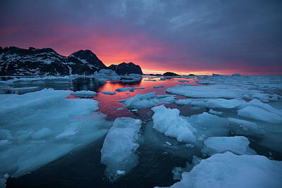 Breaking Ice At Sunrise Print by Andy Mann