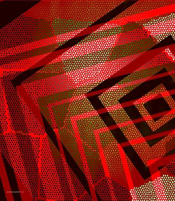 Pointillism Digital Art - Pointillism In Surreal Geometric Art by Mario Perez
