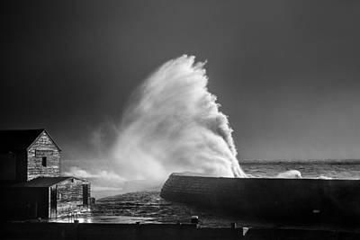 Raging Photograph - Breaking Wave by Tim Booth