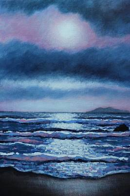 Inspirational Painting - Breaking Waves Coumeenole Beach  by John  Nolan