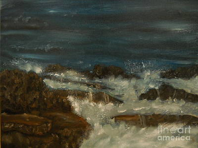 Waterscape Painting - Breaking Waves by Nicla Rossini
